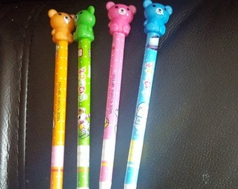 Candy coloured bear pencils