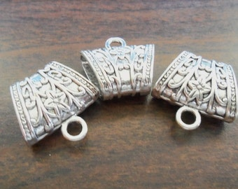 Pack of 3 Antique Silver Scarf Bails (1591)