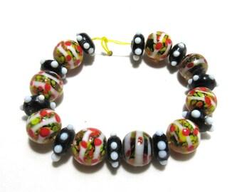 1 Strand Handmade Glass Lampwork Beads (B57-12)