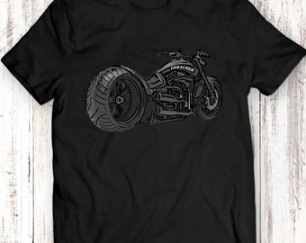Motor Racing Custom Motorcycle Harley Davidson Engine Unisex/Mens Gift Idea T-Shirt 100% Cotton T Shirt Garment Apparel