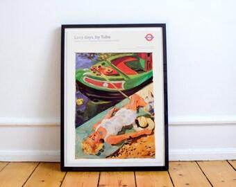 London Underground Vintage Style Transport Poster