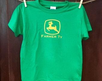 Customized Toddler/Youth Farmer T-shirt