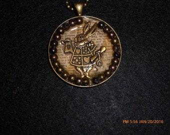 Vintage Mad Hatter Steampunk Necklace