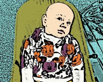 Custom Pop Art from your Photo // Pop Art Portrait // Baby Portrait // Child Portrait // First Birthday Portrait // Personalized Gift