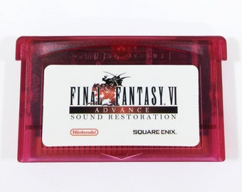 Final Fantasy 6 VI Advance Restored GBA Cartridge Sound and Color Restoration for Nintendo Game Boy Advance RPG Cart - Free Shipping!