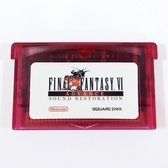 Final Fantasy 6 VI avance restaurada restauración de Color y sonido de cartucho de GBA para Nintendo juego Boy Advance RPG carro - envío gratis!
