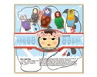 Cookie Cutters - Nesting Dolls 5 pc Set