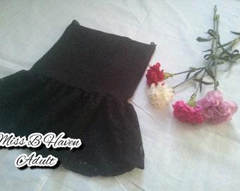Tummy Control Lingerie Skirt/ slimming lingerie/ custom made on order/ black lace/ black lingerie