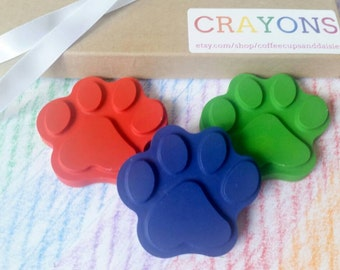 Paw Print Crayons - Puppy Party - Puppy Birthday - Kids birthday gift - kids party favors - Dog Birthday - gift under 10 - crayons