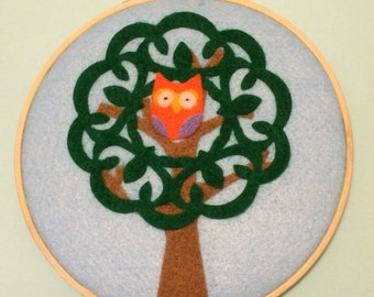 Owl in a Tree Wall Hanging