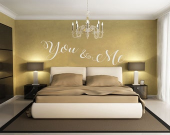 You & Me, Decal, Wall Decal, Wall Sticker, Decal, Wall Art, Home Decor, Bedroom Decal, Vinyl Decal, Beautiful,Vinyl Wall Art, wedding gift