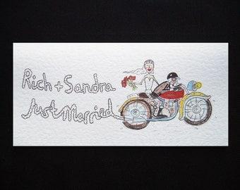 Motorbike Wedding Card, Motorcycle Wedding Card, Biker Wedding Card, Biker's Wedding Card, Motorcycle Wedding Card ( Personalised ).