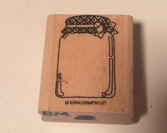 Mason Jar rubber stamp