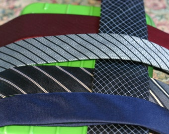 Skinny ties - pure silk or polyester - Australian designers - 6 to choose from