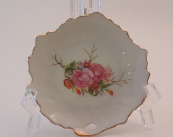 Vintage Porcelain Leaf Shaped Plate