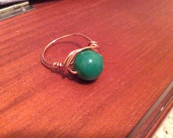 Teal Bead Ring