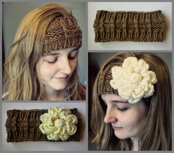 Ear Warmer Loom Knitting Pattern : LOOM KNITTING PATTERNS Huntress Headband Ear Warmer in large