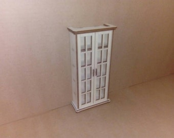 1:12 Unfinished dollhouse bookcase ready to paint and decorate