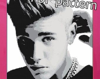 PDF Justin Bieber Cross Stitch Pattern
