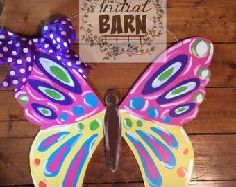 Colorful Butterfly Door Hanger