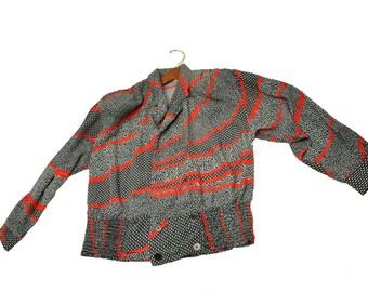 A.C. Sport blouse w shoulder pads