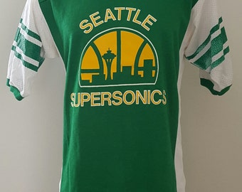 Seattle Supersonics t-shirt sonics jersey mesh sides must see