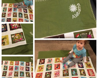 Personalized Toddler Blanket- ABC's