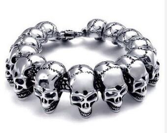 Heavy Duty Skull Bracelet