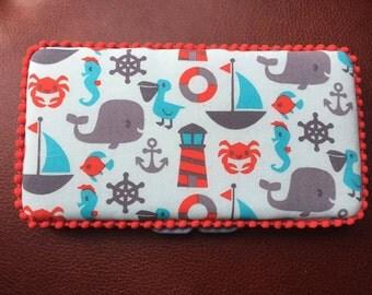 Ocean handmade baby wipe case