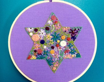 Hand sewn Star of David