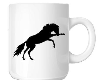 Kicking Horse Silhouette (SP-00224) 11 OZ Novelty Coffee Mug