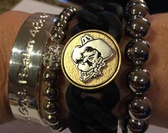 College Cuff Oklahoma State Pistol Pete bracelet