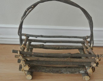 Rustic Twig Basket
