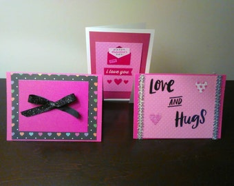 3 Pack of Valentine's Day Cards