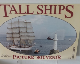 Tall Ships Picture souvenir Cutty Sark and Tall ships race Aberdeen 1991