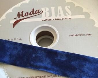 "MODA, Quilter's BIAS BINDING, Indigo, 2 1/2"" Wide"
