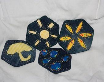 Rain or Shine coasters--set of 4