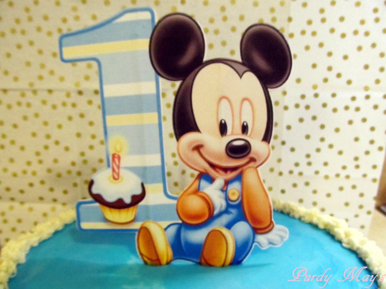 Baby Mickey Cake Topper Baby Mickey First Birthday Cake