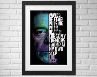 Lou Reed Poster - Illustration / Lou Reed Poster / Lou Reed / Velvet Underground