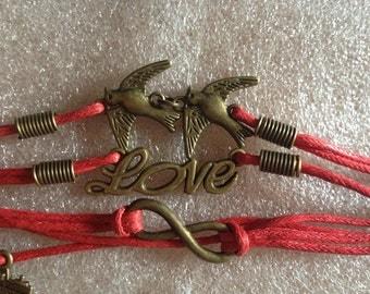 Endless Love Bracelet Red Girl/Woman-New!
