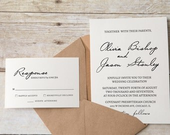Wedding Invite Template Handwritten | Wedding Invite Template Printable | Diy Wedding Invitation Template | Printable wedding invitation