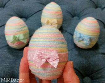 Easter Egg -Yarn and Bow