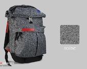 Backpack Pilsok #2 Rolltop Printed Edition Noise / Backpack for Men or For Womem