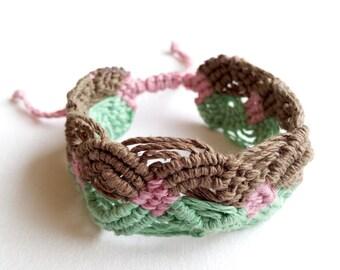 Macrame Hemp Cord Bracelet