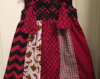 Girl's Cajun Patchwork Knot Dress