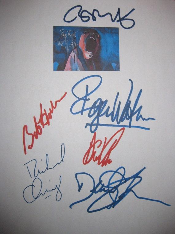 Pink Floyd The Wall Signed Movie Film Screenplay Script Autograph X6 Roger Waters Nick Mason David Gilmore Richard Wright Bob Geldof Hoskins