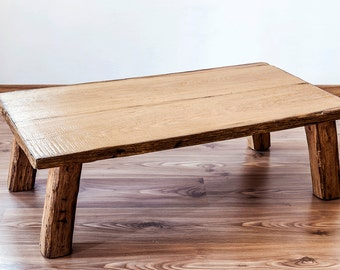 Solid Oak coffee table-furniture-design-rustic-country style