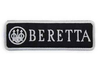 Beretta embroidered patches 10 x 3.3 cm/fusible 3.95 x 1.3 in