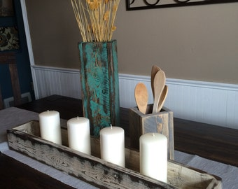 Handmade wooden accent pieces