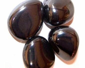 "Hematite (x 1) - semiprecious stone ""rolled"""